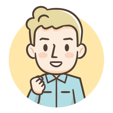 Illustration of young blond man
