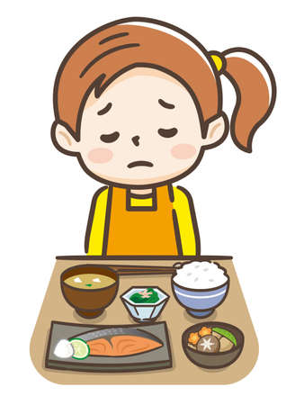 Las niñas anoréxicas no son saludables Ilustración de vector