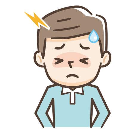 Young man suffering from headache Stock fotó - 134336011
