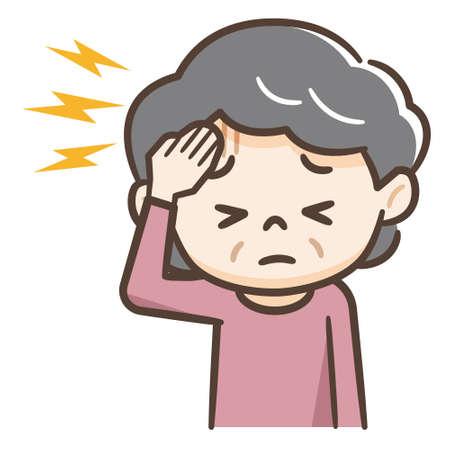 Senior woman suffering from headache Stock fotó - 134336013
