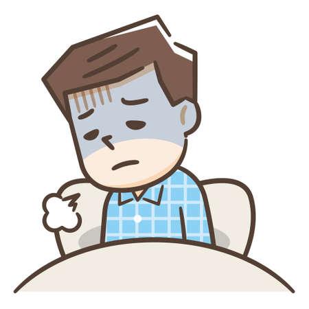 Men who cannot sleep due to sleep disorders