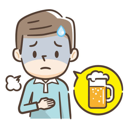 Men who feel bad because they drink too much beer