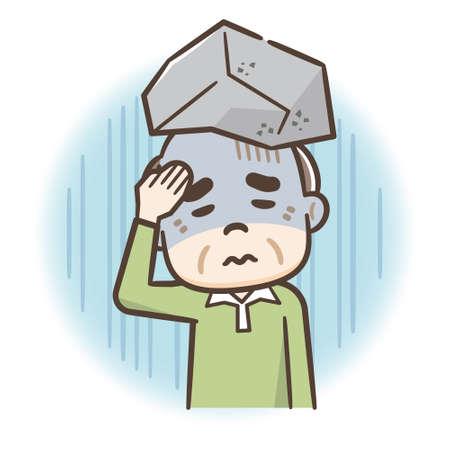 Image of senior man having trouble