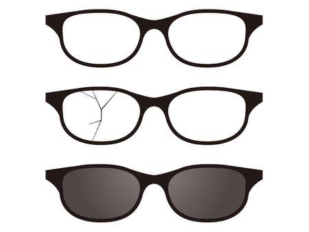 Glasses and sunglasses illustration set Stock Illustratie