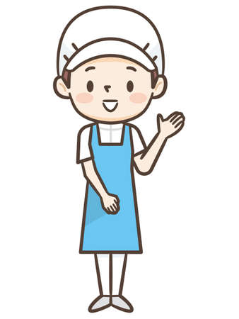 Illustration of young cook woman