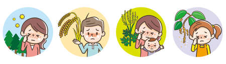 People suffering from hay fever