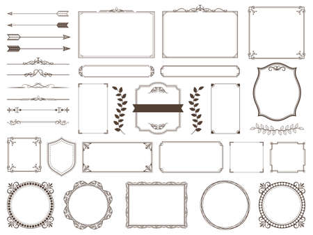 Ornate frames and scroll elements.