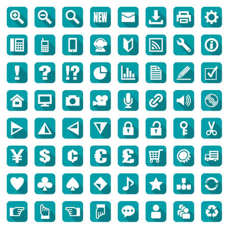Design icon set suitable for info graphics, websites and print media. Çizim
