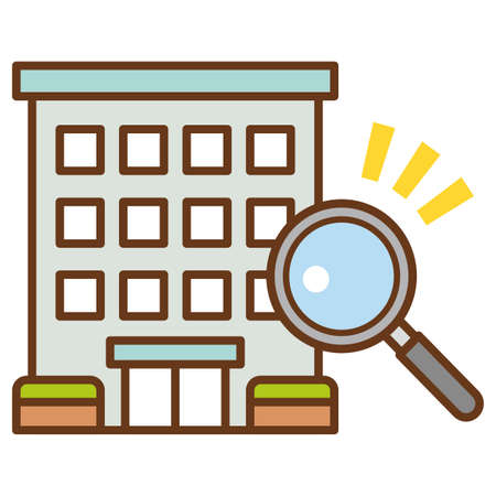 Apartment search.The concept of real estate search. Ilustração