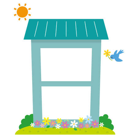 Illustration of simple cute house Ilustração