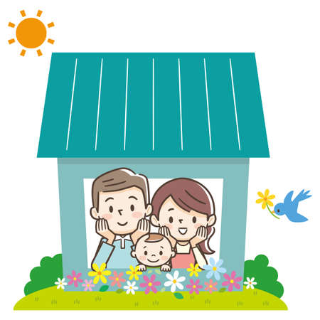 Concept of the home of a young happy family.