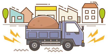 Noise and vibration problems with dump trucks