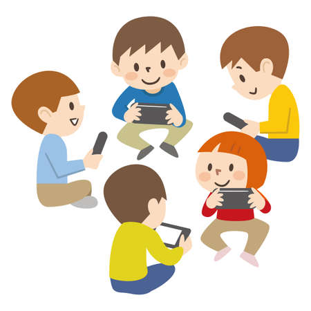 Children playing games online around the world