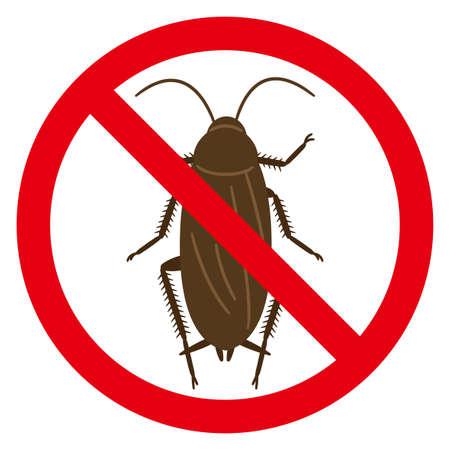 Illustration of no cockroach mark Vektorgrafik