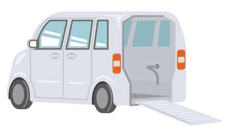 Illustration behind the welfare vehicle