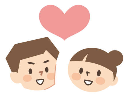 Illustration of a good friend male and female couple