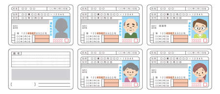 """Japanese driver's license. This card says """"name, date, address, issuance, driver's license"""" in Japanese."""