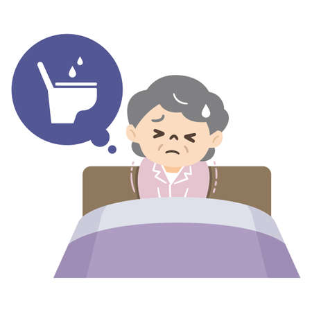 Elderly woman with nocturia and lack of sleep