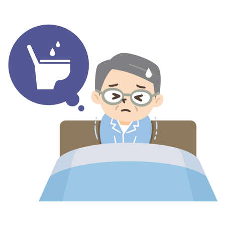 Elderly man with nocturia and lack of sleep