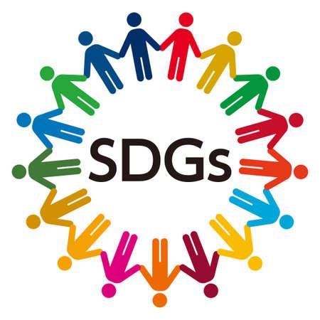 Illustration of Sustainable Development Goals. SDGs. 일러스트