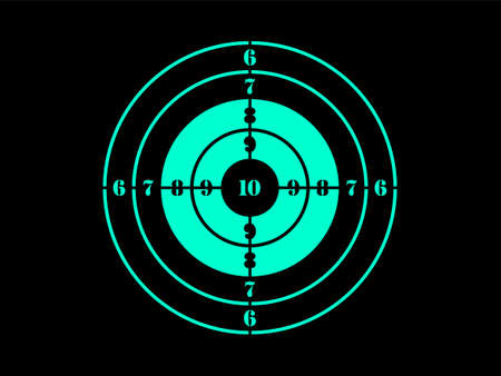 Target destination icon. Aim sniper shoot focus cursor bull eye mark.