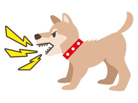 Simple barking dog flat illustration