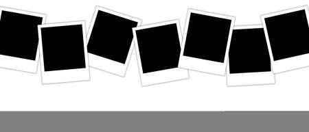 Simple multiple photo frame illustrations