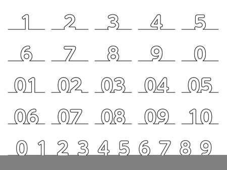 Fashionable illustration of number design 일러스트