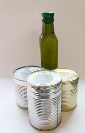Donation in a box. The volunteer brought the products for people to self-isolation. Products on a background close-up, a place for an inscription. Products for the poor.