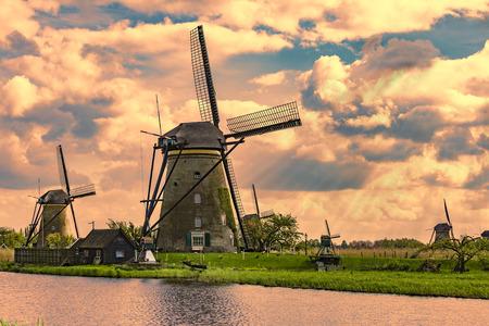 Kinderdijk, Netherlands, Operational windmill