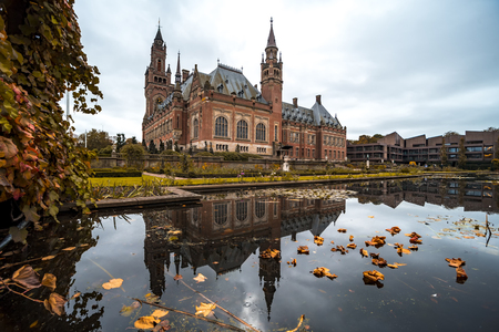 Beautiful building and most visited building in The Hague at Autumn season Stock Photo