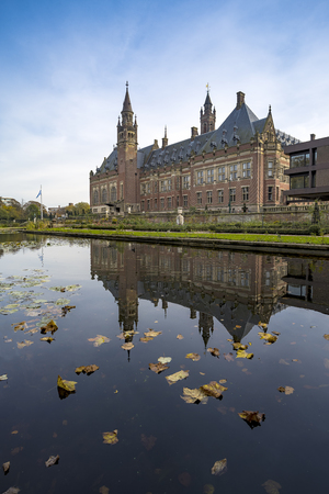 Beautiful building and most visited building in The Hague at Autumn season, Netherlands