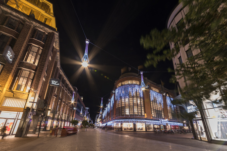 THE HAGUE, January 2018 - Lights in the center and the most international involved city in The Netherlands