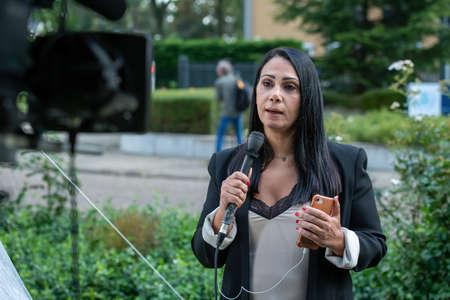 LEIDSCHENDAM, 18 August 2020 - Arabian journalist and reporter go live on the Special Tribunal for Lebanon judgement on the killing of the ex-Lebanon Prime minister Rafic Hariri, Netherlands