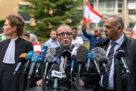 Leidschendam, 18 August 2020 - Vincent Courcelle-Labrousse, the defense lawyer commenting on Special tribunal for Lebanon to deliver ruling on killing of ex-Lebanese PM