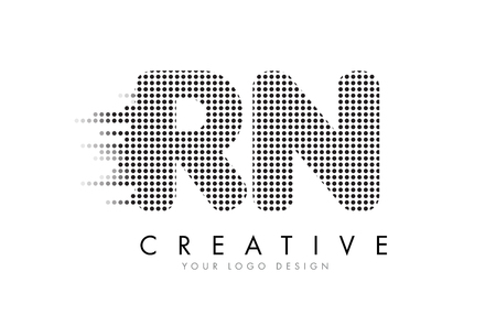 Rn letters stock photos royalty free rn letters images rn r n letter logo design with black dots and bubble trails altavistaventures Images