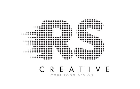 RS R S Letter Logo Design with Black Dots and Bubble Trails. Logó