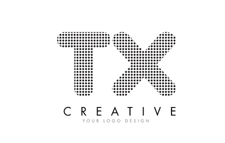 tx: TX T X Letter Logo Design with Black Dots and Bubble Trails.