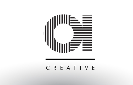 OI O I Black and White Letter Logo Design with Vertical and Horizontal Lines.