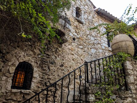 Stairs Entrance in an Old Building in Eze village, on French Riviera