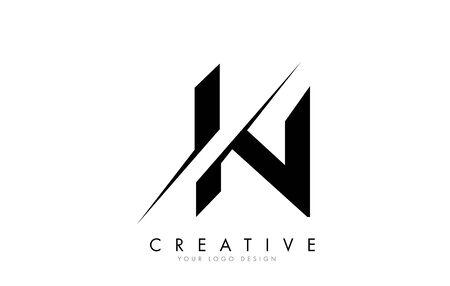 IN Brief Logo-Design mit einem kreativen Schnitt. Kreatives Logo-Design..