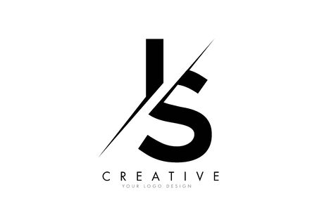 IS I S Letter Logo Design with a Creative Cut. Creative logo design..
