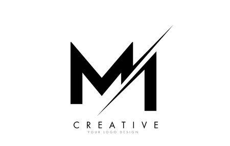 MI M I Letter Logo Design with a Creative Cut. Creative logo design..