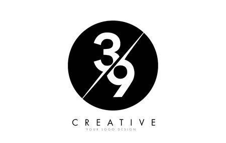 39 3 9 Letter Logo Design with a Creative Cut. Creative logo design.. Ilustração