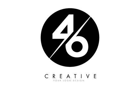 AB A B Letter Logo Design with a Creative Cut. Creative logo design..