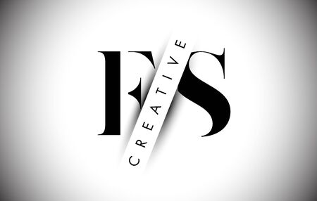 FS F S Letter Logo with Creative Shadow Cut and Overlayered Text Vector Illustration Design.