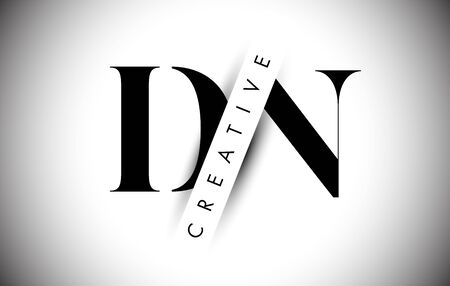 DN D N Letter Logo with Creative Shadow Cut and Overlayered Text Vector Illustration Design.