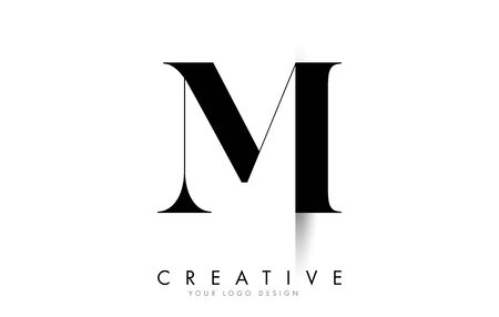 MI M I Letter Logo Design with Creative Shadow Cut Vector Illustration Design.
