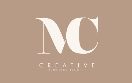 MC M C letters  design. Long Tail effect vector illustration sign.