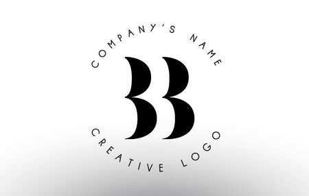 Letters BB B Logo with a minimalist design. Simple BB Icon with Circular Name Pattern. Creative Stamp Vector Illustration with letter B. Illustration